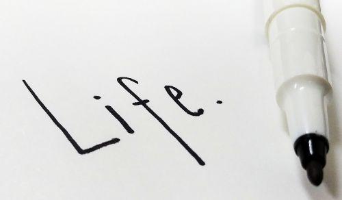 life letter pen