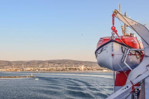 life boat ferry sea