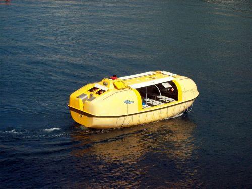 life boat survival unit yellow
