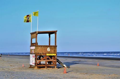 life guard ocean line tide