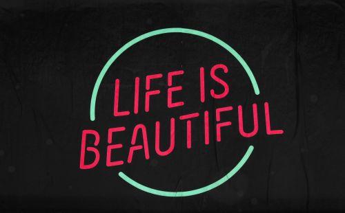 gyvenimas, gražus, gyvenimas & nbsp, & nbsp, gražus, ženklas, žalias, rožinis, įkvėpimas, įkvepiantis, motyvacija, motyvacinis, ženklai, plakatas, gyvenimas yra gražus ženklas Nr. 2