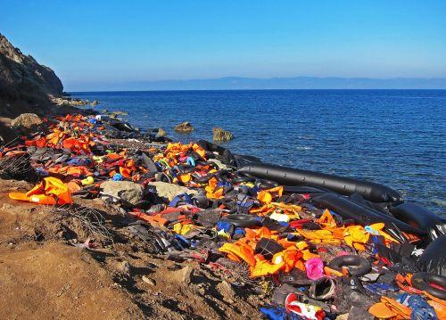life jackets syria war