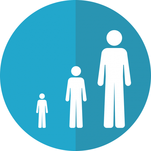 life stage icon growth icon aging icon