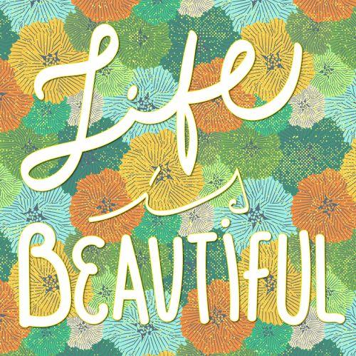 Life Typographic Card
