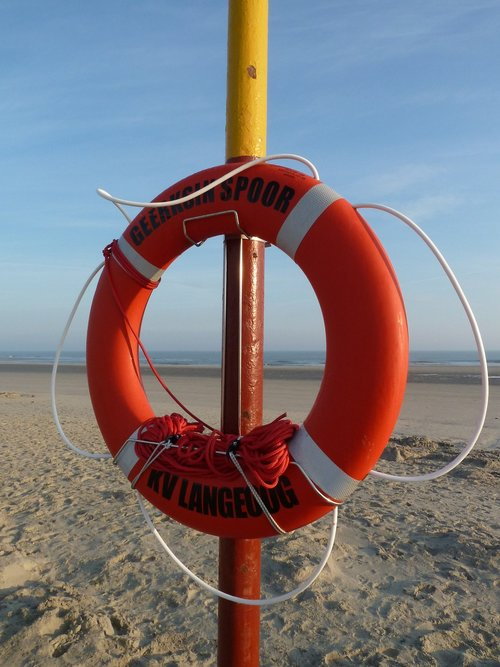 lifebelt  langeoog  north sea island of