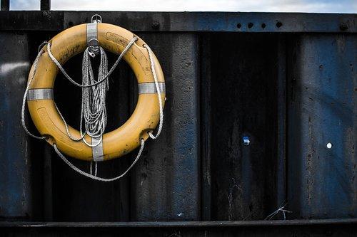 lifebelt  yellow  port