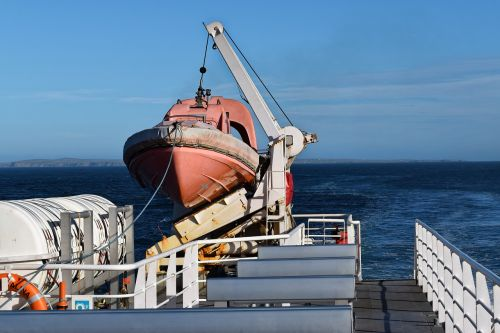 lifeboat ferry sea
