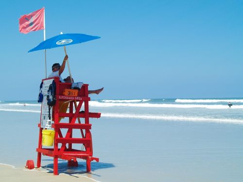lifeguard daytona beach ocean