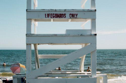 lifeguard beach sea