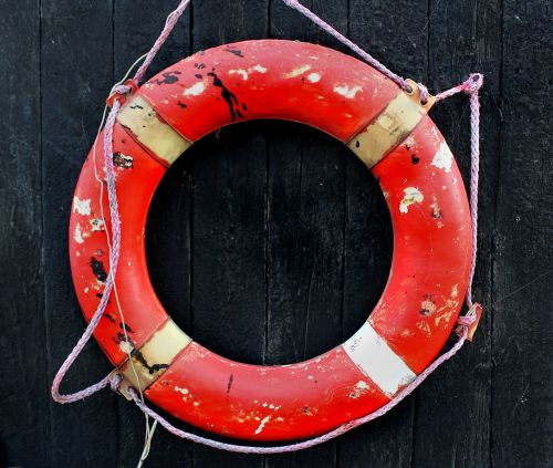 lifesaver wear and tear weather-beaten