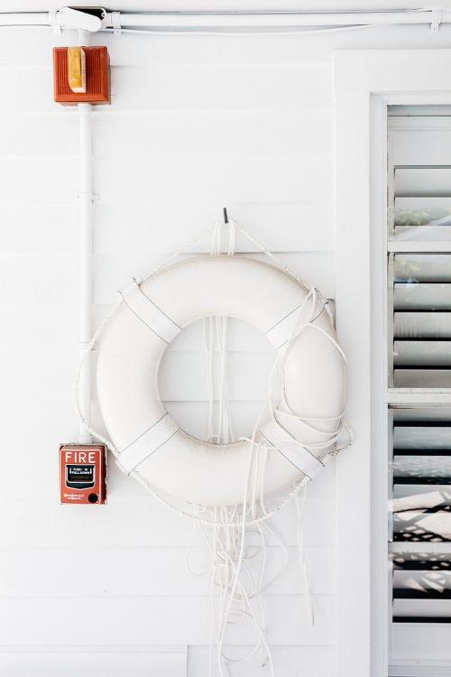 lifesaver lifebelt white