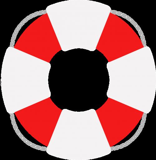 lifesaver safety buoy white