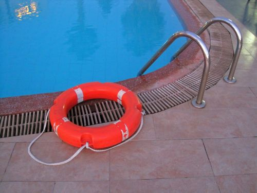 Lifesaver Ring At Poolside