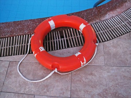 Lifesaver Ring By Poolside