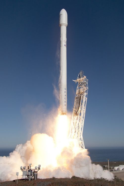 lift-off rocket launch spacex