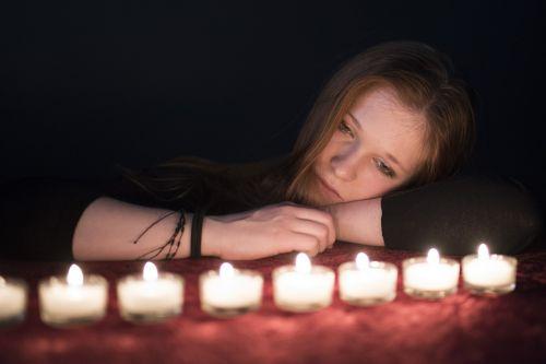 light thoughtful meditation