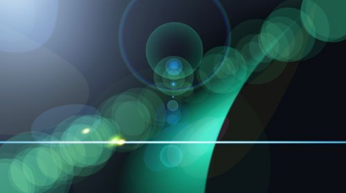 light reflex abstract