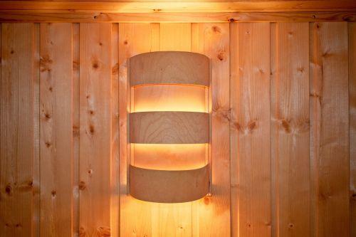 light sauna lamp wooden wall