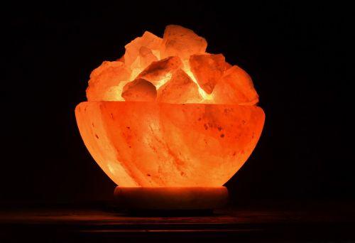light night light salt crystals