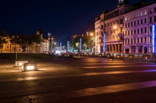 light long exposure night photograph