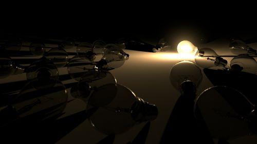 light light bulb glow