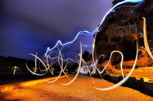light trails lowlight