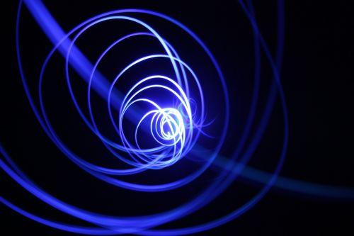 light spiral fractal art