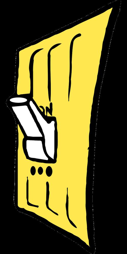 light switch yellow