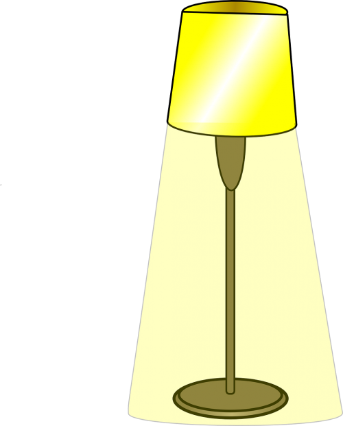 light lamp shining