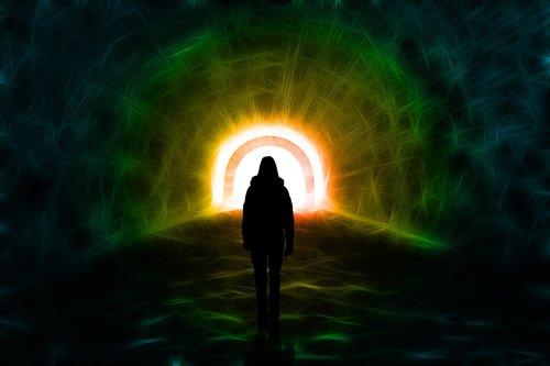 light  tunnel  silhouette