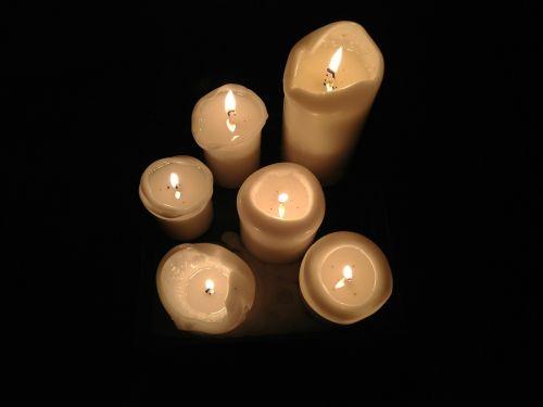 light christmas candle wax