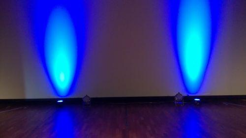 light blue backlight