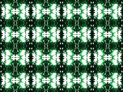 Light Blobs With Green Sparkle