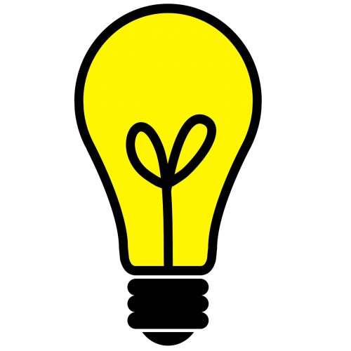 light bulb light icon