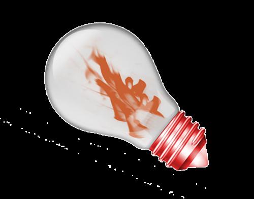 light bulb pear light