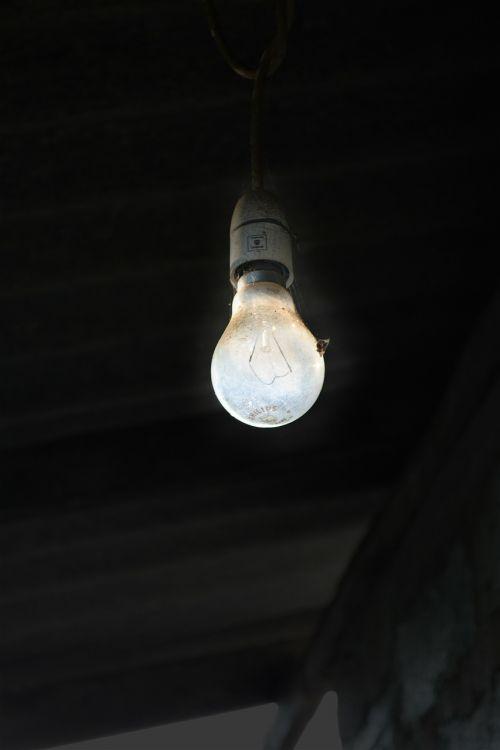 light bulb old light light