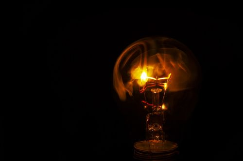 light bulb burn fire