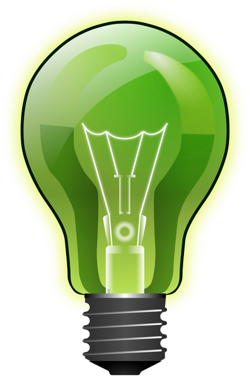 light bulb green energy electric light