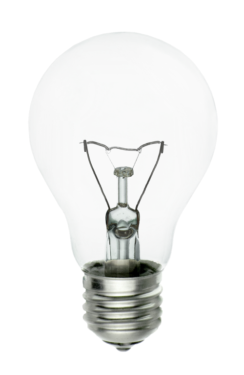 light bulb isolated transparent