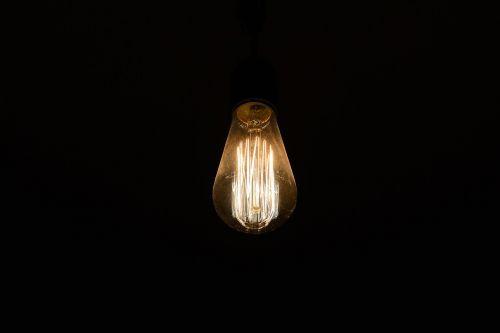 light bulb light abstract