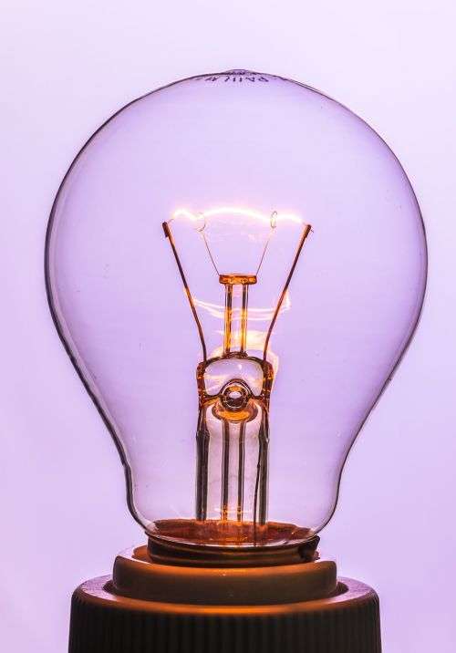 light bulb at burn