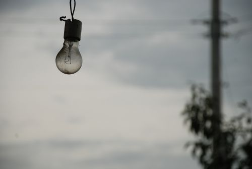 light bulb depression grey