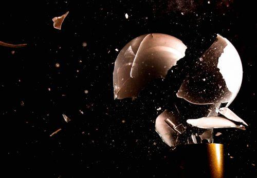 light bulb implosion broken