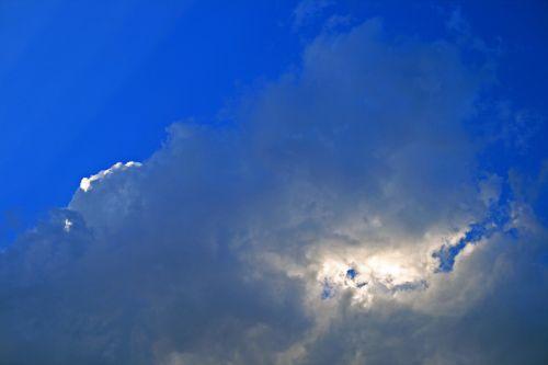 Light Focus Behind Cloud