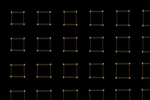 Light Frames On A Dark Background