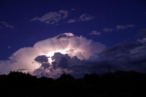 light of night thunderstorm flashes