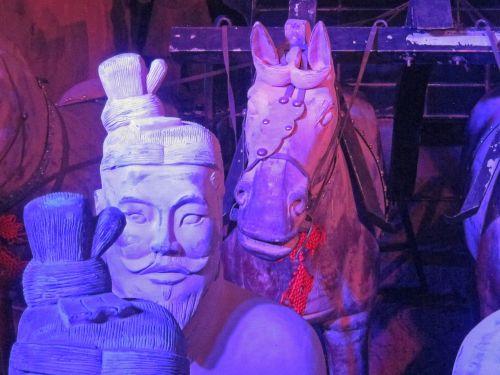 Light On Clay Warriors & Horse