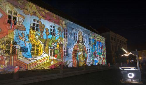 light painting székesfehérvár projection