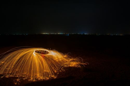 light painting color sparks