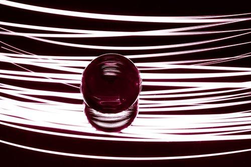 light painting  glass ball  pave